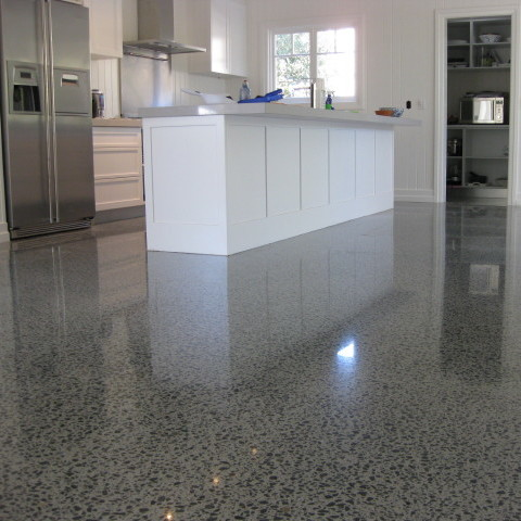 Kitchen Flooring Design With Stained Concrete Floors Ideas Suit With