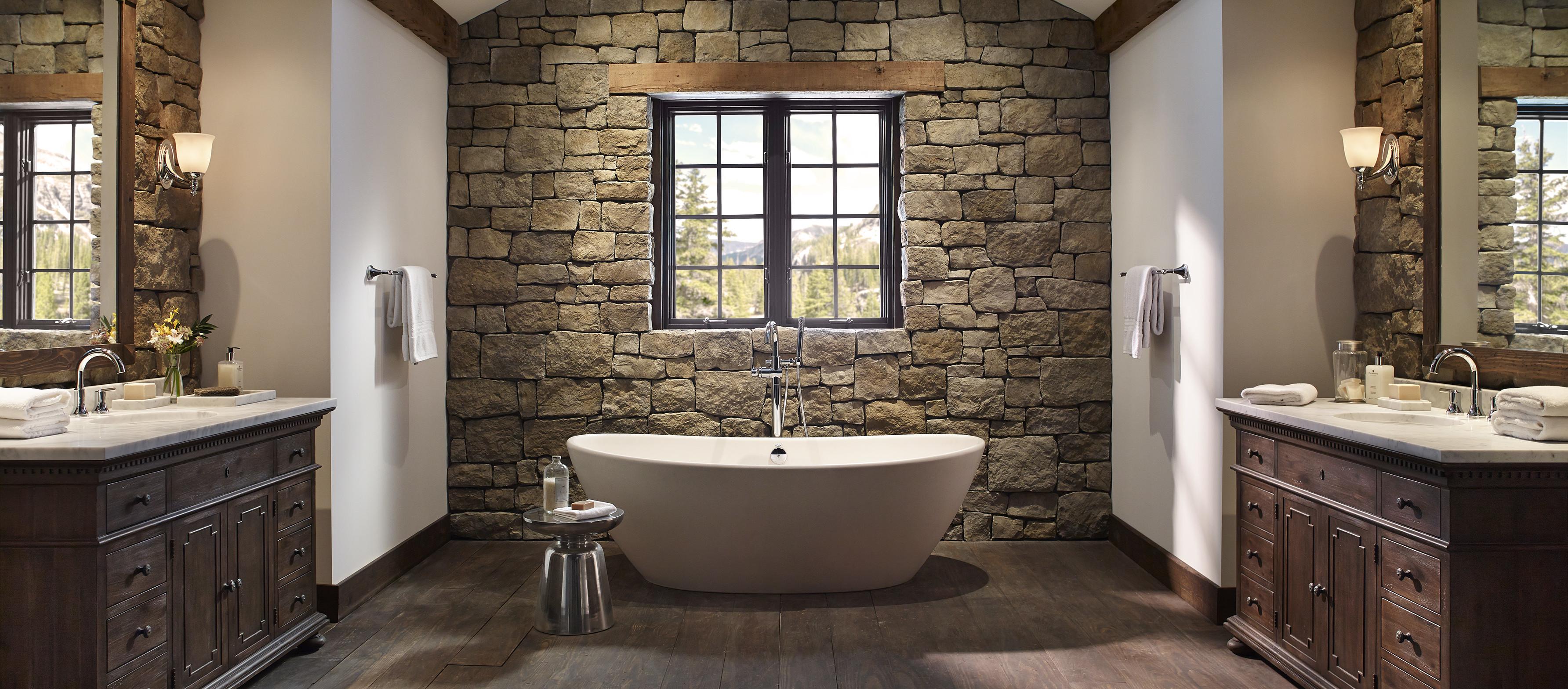 Rustic Bathroom Irefinish Of Oregon Tub Shower Tile